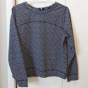 H&M Long Sleeve Zip Back Pullover S